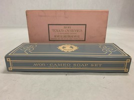 Lot of 2 boxes scented AVON HAND HOSTESS SOAP Cameo Touch of Roses Perfumed - $46.52