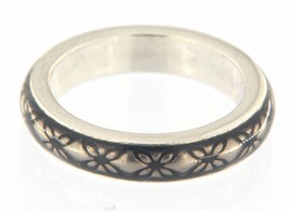 Pandora floral brown enamel Women's .925 Silver Wedding band - $39.00
