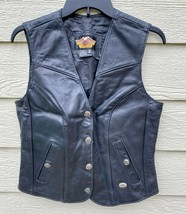 Harley Davidson Womens Motor Cycle Genuine Leather Vest - Size M (Made i... - $123.75