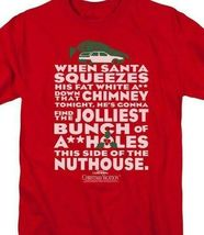National Lampoon's Christmas Vacation t-shirt Griswold red graphic tee WBM652 image 3