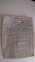 1960 Simplicity Products Price List 4 page Mfr's #'s Product Desc List P... - $9.74