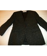 WOMEN JONES NEW YORK 8P PETIT BLACK GOLD EVENING JACKET - $15.99