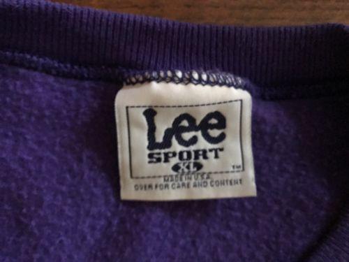 Vtg Northwestern University Lee Sweatshirt SIZE XL Mint Light Wildcats Purple