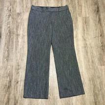 Ann Taylor LOFT Women's Pants ~ Sz 12 ~ Gray ~ Julie Trouser ~ Herringbone - $24.74