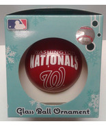 Washington Nationals Glass Ball Ornament MLB NEW Team Spirit Christmas Tree - $8.99