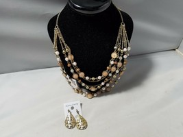 Allie West Vintage American Multi-Strand Bead Necklace & Matching Earrings - $20.45