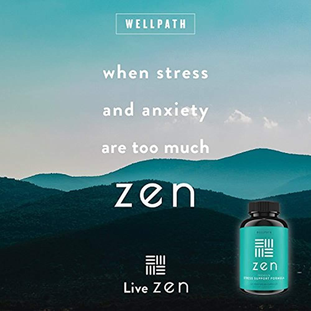 ZEN Premium Anxiety And Stress Relief Supplement - Natural Herbal Formula To & image 5