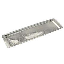 Elegance Stainless Steel Hammered Rectangular Tray, Medium 17.75 by 5.5-... - £40.70 GBP