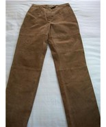 WOMEN ST.JOHN'S BAY GENUINE LEATHER PANTS SIZE 8 BROWN - $24.99