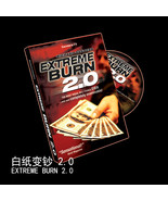 1 set Extreme Burn 2.0 (Gimmicks+DVD) money magic tricks Magic comedy cl... - $25.70