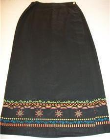 WOMEN STONEBRIDGE LONG BLACK DRESS CAREER SKIRT SIZE 8