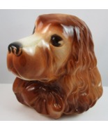 Royal Copley small Cocker Spaniel ceramic head vase planter vintage made... - $22.89