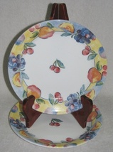 2 Corelle Salad Plates Fruit Basket Pattern  - $4.00