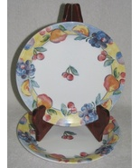 2 Corelle Salad Plates Fruit Basket Pattern  - $4.00