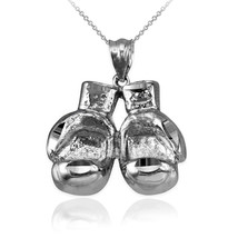 Sterling Silver Boxing Gloves DC Pendant Necklace - $29.99+