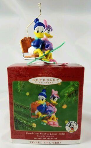 Hallmark Keepsake Ornament Mickey & Co Disney Donald & Daisy at Lover's Lodge