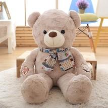 Teddy bear hair bear boy scarf bear hair toy bear super large bear doll birthday girl thumb200
