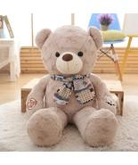 Teddy Bear Hair Bear Boy Scarf Bear Hair Toy Bear Super Large Bear Doll ... - $102.60