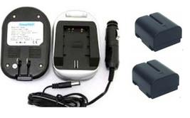 2 Batteries +Charger for JVC GR-DV800US GR-DV820US GR-DV920US GR-DVA10 GR-DV2000 - $28.76