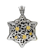 Gerochristo 3259 - Solid Gold & Silver Medieval Byzantine Filigree Pendant  - $490.00