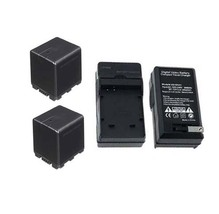 2 Batteries + Charger for Panasonic HDC-HS900K HDC-HS900P HDC-HS900PC HDC-SD800P - $62.95