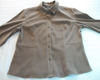 WOMEN NORTON MCNAUGHTON BROWN SHIRT TOP JACKET SIZE 10