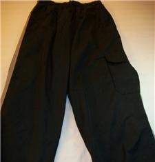 WOMEN MEN BASIC ELEMENTS BLACK TRACK PANTS S SMALL