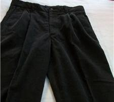 MEN STRUCTURE BROWN PLEATED FRONT CORDUROY PANTS 34 X 30