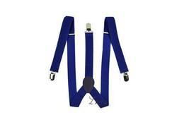 Mens Royal Blue Adjustable Braces Suspenders Wedding
