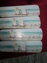 Custom~ Beach Chairs By The Sea Seaside Oc EAN Rolling Waves Tropical Ceiling Fan - $99.99