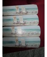 CUSTOM~ BEACH CHAIRS BY THE SEA SEASIDE OCEAN ROLLING WAVES TROPICAL CEI... - $89.99