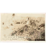 Mexican Revolution Officers Grave Site vintage Post Card - $50.00