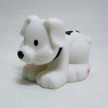 Fisher Price Little People WHITE PUPPY DOG with Spots, McDonalds 2004 Rare - $5.00