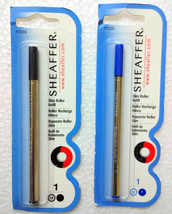 1 Blue + 1 Black Sheaffer® Medium Slim ROLLER Pen Refill Roller BP Refill - $10.99