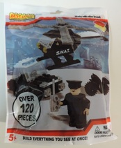 Best-Lock Construction Toys S.W.A.T. SWAT helicopter & car building set ... - $8.00