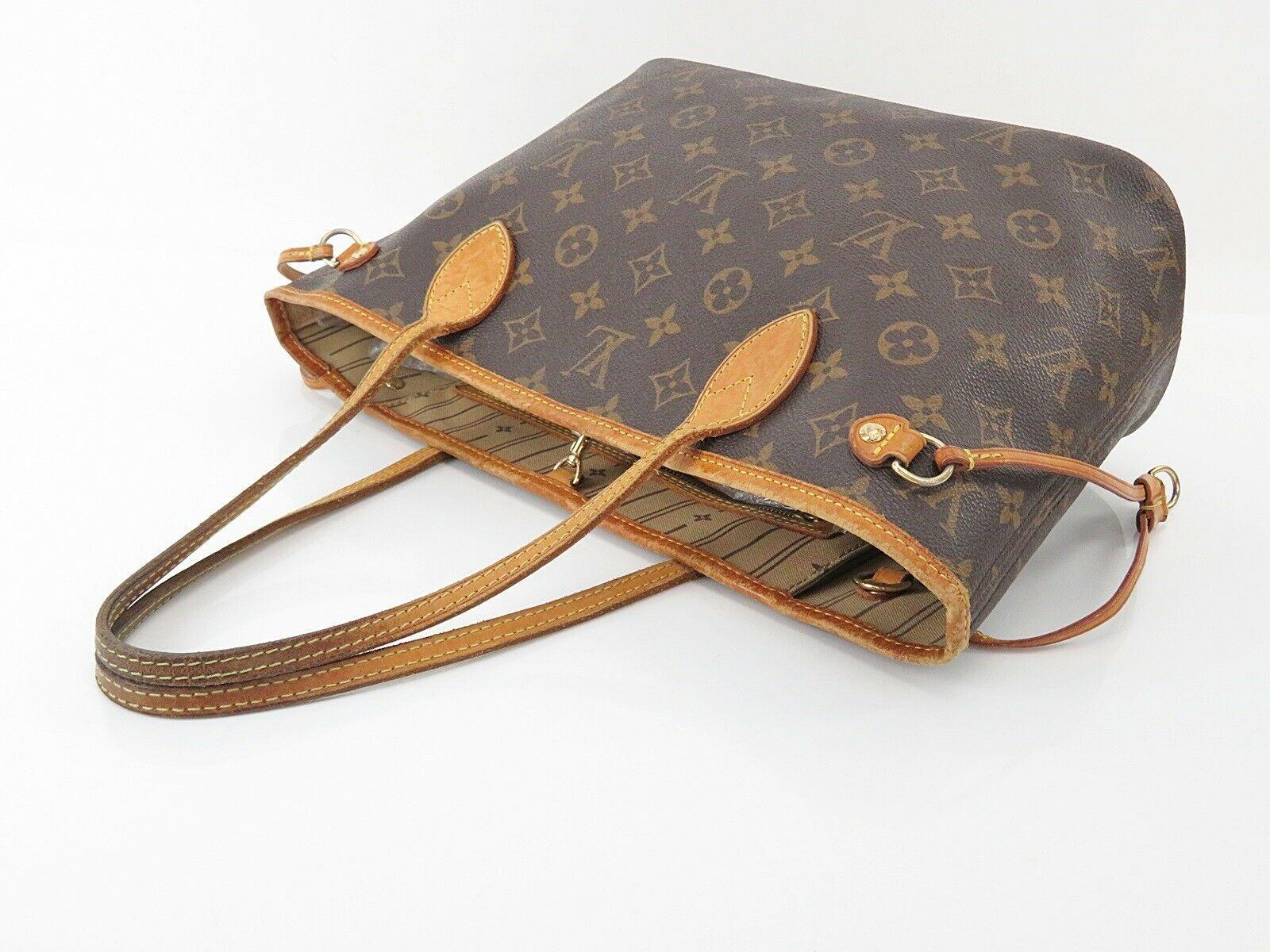 Authentic LOUIS VUITTON Neverfull PM Monogram Tote Bag Purse #28776