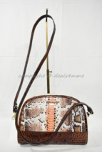 NWT Brahmin Abby Leather Shoulder/Crossbody Bag in Melon Fisher - Tri-Color - $199.00