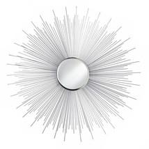 Wall Mirror, Silver Rays Iron Frame Decorative Bathroom Round Mirrors,  Glass - $99.69