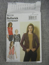 Lined Vests and Jackets Loose fitting Easy Misses 18-22  Butterick B6139... - $6.00