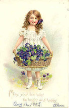 A Happy Birthday To You 1907 Vintage Post Card - $5.00
