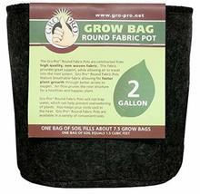 Gro Pro Premium Round Fabric Pot 2 Gallon, Black - $12.28