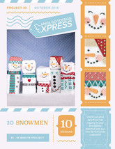 Anita Goodesign Express 3D Snowmen Embroidery Machine CD (CD ONLY) - $10.39