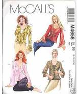 Uncut Size 8 10 12 14 Tops Bias Tank McCalls 4658 Pattern Flounce Ruffles - $7.99