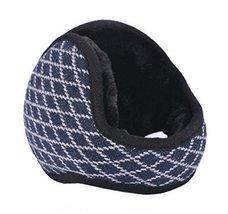 Unisex Foldable Earmuffs Warm Knit Ear Warmers Fleece Winter EarMuffs, Navy - $13.11