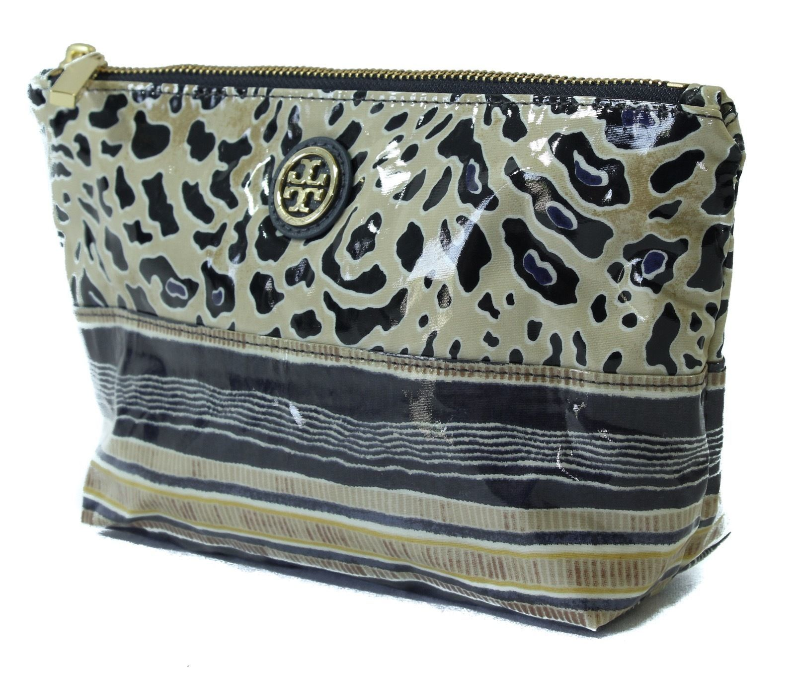 NIB TORY BURCH Small Slouchy Cosmetic Case Bag, Multicolor