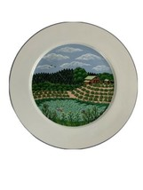 Block Spal Napa Valley River Farm Summer Dinner Plate 1983 by Sara Barnes - $19.75