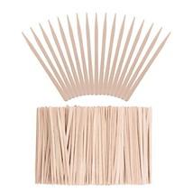 Whaline 400 Pieces Small Wax Sticks Wood Spatulas Applicator Craft Sticks for Ha image 1
