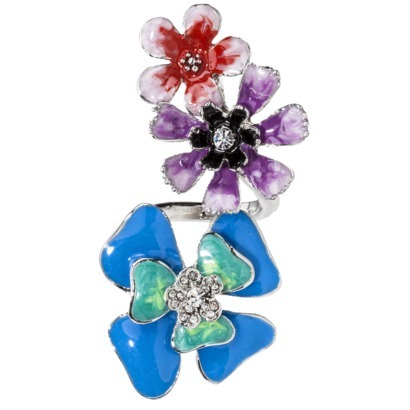 PRABAL GURUNG for Target spiral flower ring *multicolor* NWT