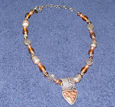 Vintage Bronze/Goldtone Costume Jewelry Necklace - $9.89