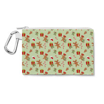 Christmas Mickey & Minnie Gingerbread Cookies Disney Inspired Canvas Zip Pouch - $15.99+